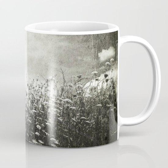 Counting Flowers Like Stars - Black and White Mug