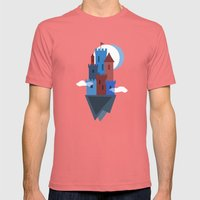 Sky Castle Mens Fitted Tee Pomegranate SMALL