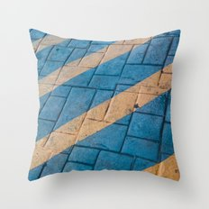 Yellow Lines at the ground Throw Pillow