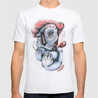 Misty Puff Mens Fitted Tee Ash Grey SMALL