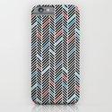 Herringbone Black and Blue #2 iPhone & iPod Case