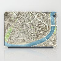 New Orleans City Map iPad Case