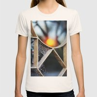 The fence, the spiderweb and the sun Womens Fitted Tee Natural SMALL