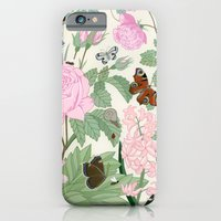 Pink Flowers And Butterf… iPhone 6 Slim Case