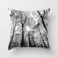 The Forests Sketch Throw Pillow