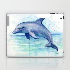 Dolphin Watercolor Sea Creature Art Laptop & iPad Skin