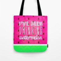 Drinking Watermelon Tote Bag