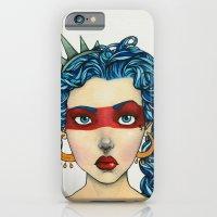 iPhone & iPod Case featuring AMERICANA by PaperTigress