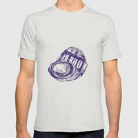 Irn Bru can pen drawing (blue) Mens Fitted Tee Silver SMALL