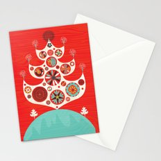 Festive Yule Christmas Tree Stationery Cards