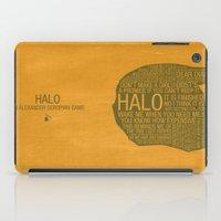 Halo Typography iPad Case