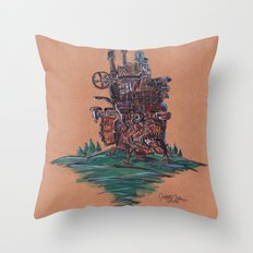 The Moving Castle Throw Pillow