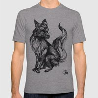 Foxy Two Mens Fitted Tee Athletic Grey SMALL