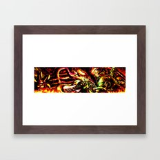 Metroid Metal: Ridley- Through the Fire.. Framed Art Print