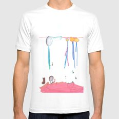 Balloon Voyage Mens Fitted Tee White SMALL