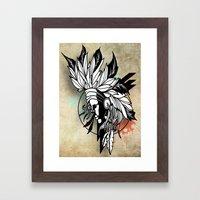 Native Girl Design Framed Art Print