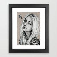 Honeycomb: Postcard #3  Framed Art Print