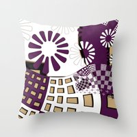 Squares Spiral Geometric… Throw Pillow