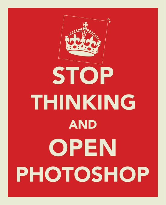 Stop Thinking and Open Potoshop Canvas Print