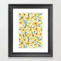 Yellow Jonquils Framed Art Print