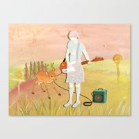 Guitar Fawn Canvas Print