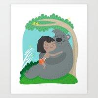 Jungle Friendship Art Print