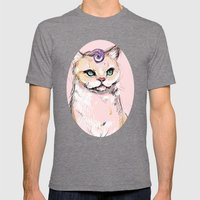 Josephine The Cat Mens Fitted Tee Tri-Grey SMALL