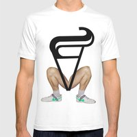 Show up late / leave early syndrome Mens Fitted Tee White SMALL