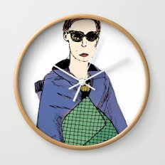 Bag Lady Blue Wall Clock
