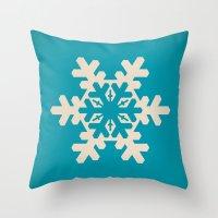 Snowflake, Winter, Chris… Throw Pillow