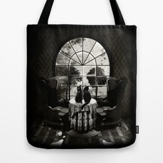Room Skull B&W Tote Bag