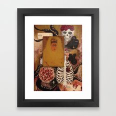 Between Two Mirrors Framed Art Print