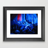 Glitch Space 3 Framed Art Print