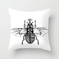Beetle Throw Pillow
