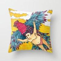 Lazy Tarzan - Flying Throw Pillow