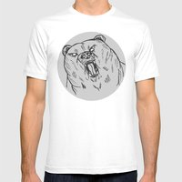 Burr Mens Fitted Tee White SMALL