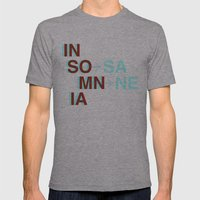 Insomnia / Insane Mens Fitted Tee Athletic Grey SMALL