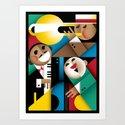 Jazz Art Print