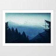 Blue Valmalenco - Alps A… Art Print