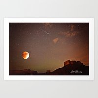 Sedona Blood Moon Eclips… Art Print