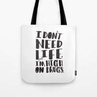 HIGH ON DRUGS Tote Bag