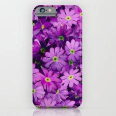 Purple Wild Flowers Slim Case iPhone 6s
