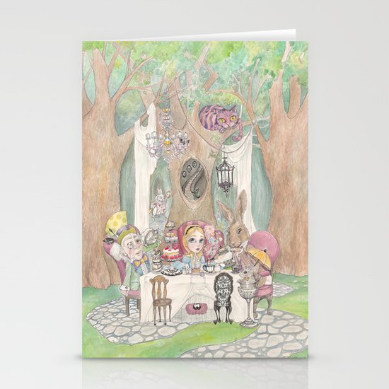 The Tea Party  Stationery Card