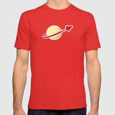 Space 1980 Mens Fitted Tee Red SMALL