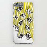 Yellow Stripey Eyes iPhone 6 Slim Case