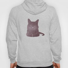 Happy purple cat illustration on pink for girls Hoody