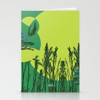 Grassy Sunset. Stationery Cards