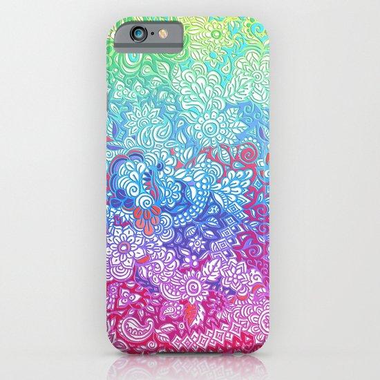 Fantasy Garden Rainbow Doodle iPhone & iPod Case