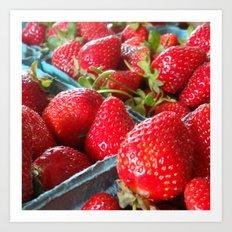 Summer Strawberries Art Print