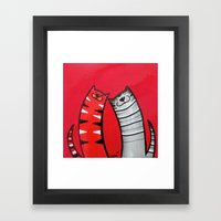 BFF  KiekeboeKAT Framed Art Print
